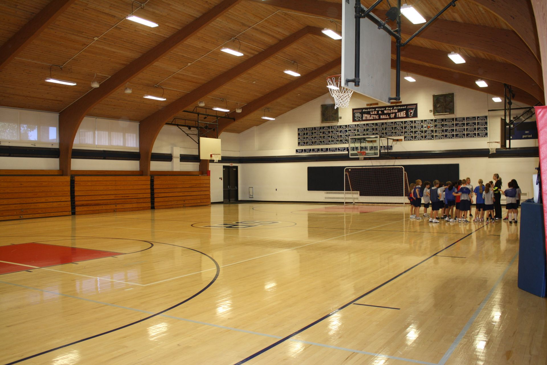 The gymnasium is located in North Hall and is home to the SRDS Rebels!