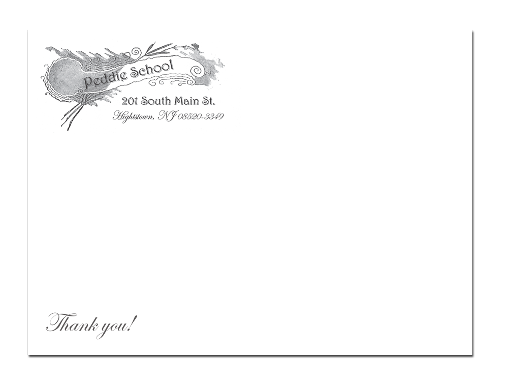 Recreated envelope for Peddie Fund 2013