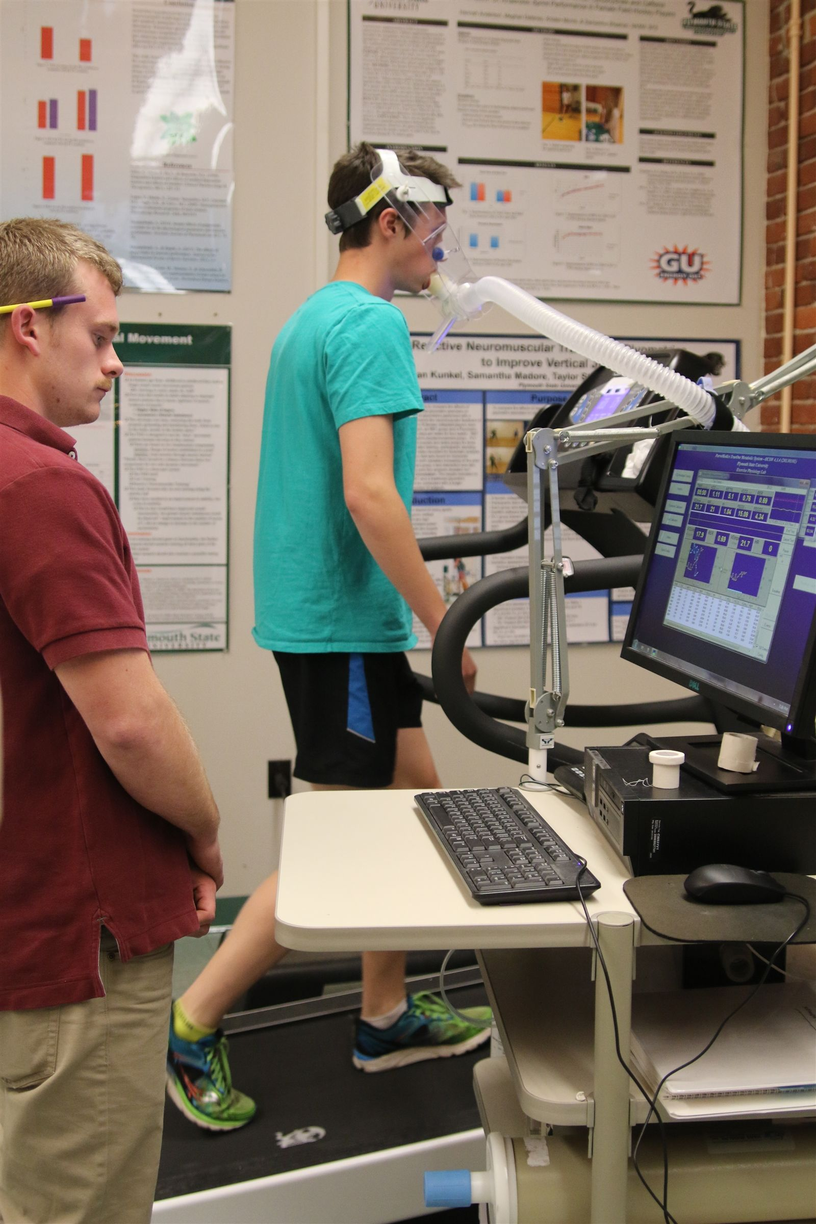 Conducting a VO2 Max Text at PSU's Human Performance Lab