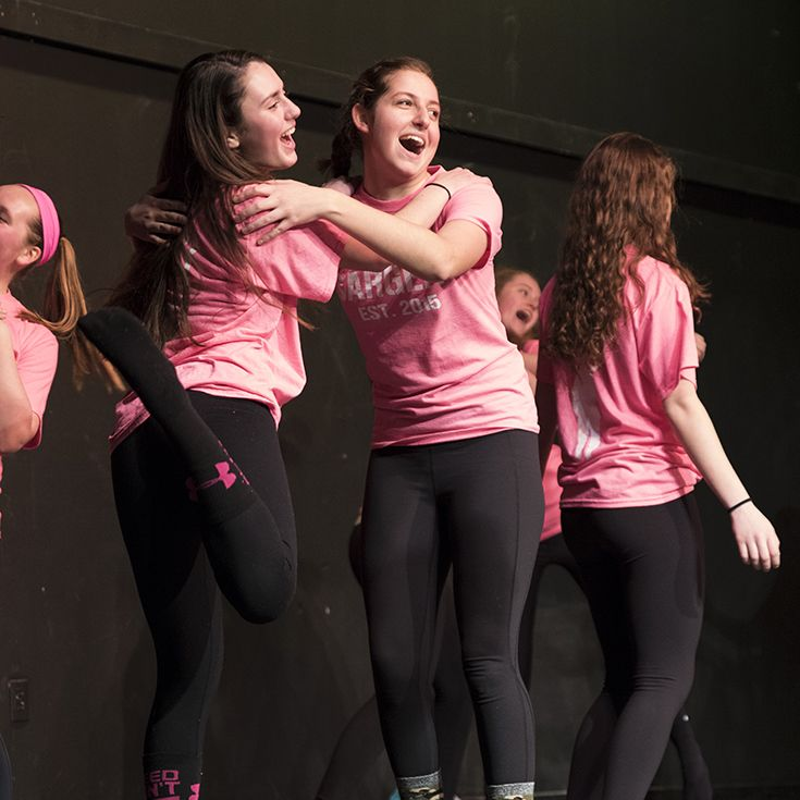 Girls from Sargent Dorm During Winter Carnival Lip Sync