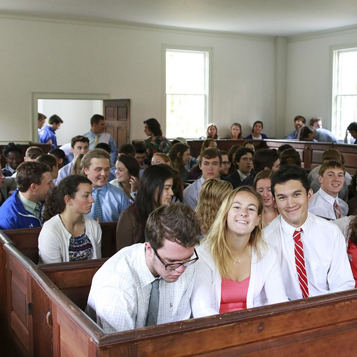 Seniors in Trinity Chapel