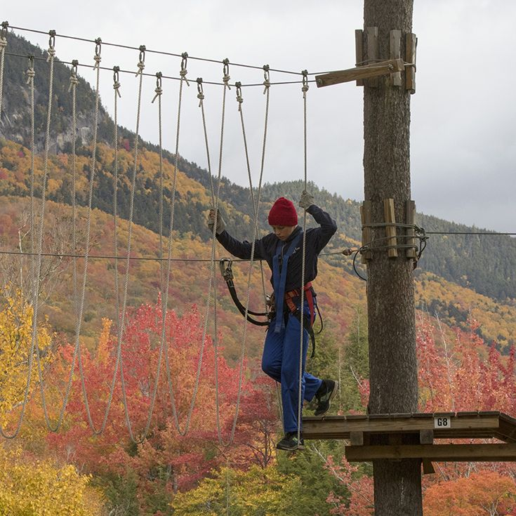 The Loon Mountain Ropes Course in 2015