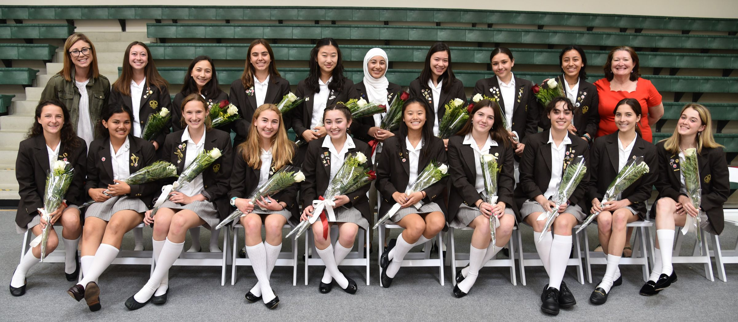 Members of the 2019-20 Student Council at their induction and blessing