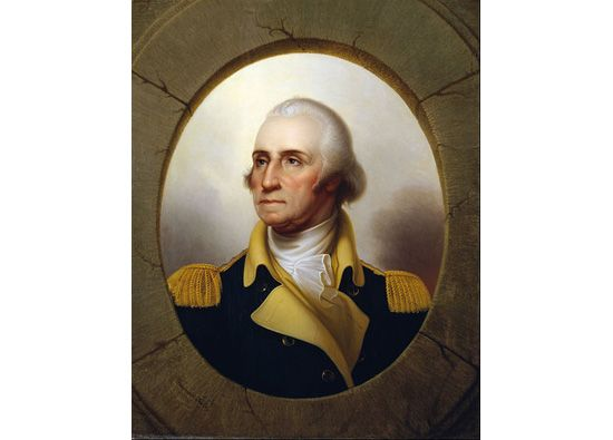 Porthole Portrait of George Washington, Rembrandt Peale, nd