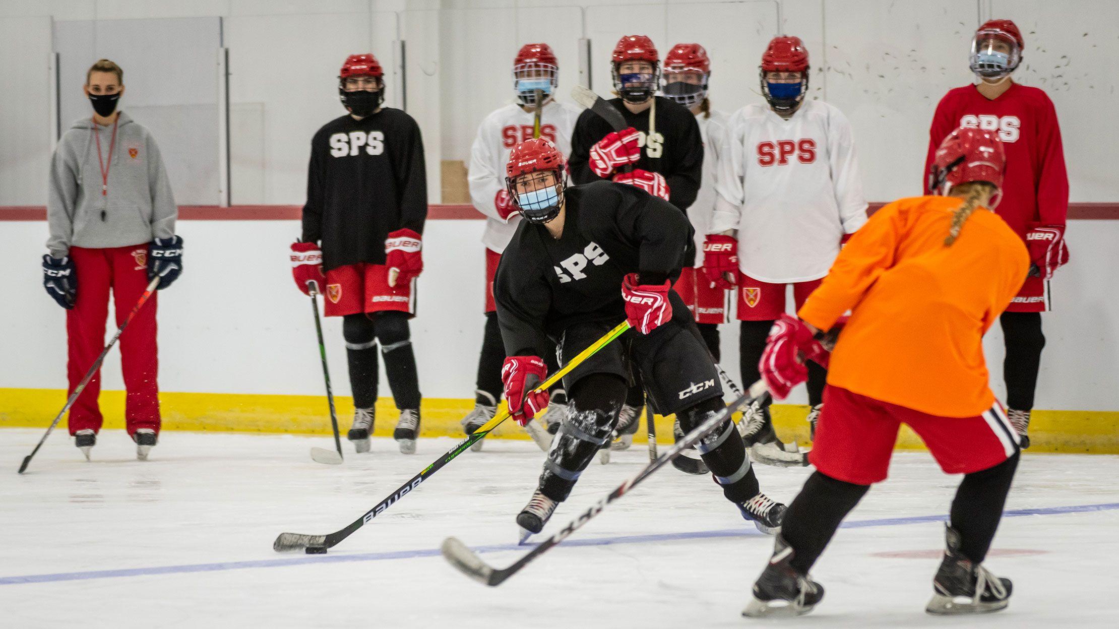 girls hockey practice
