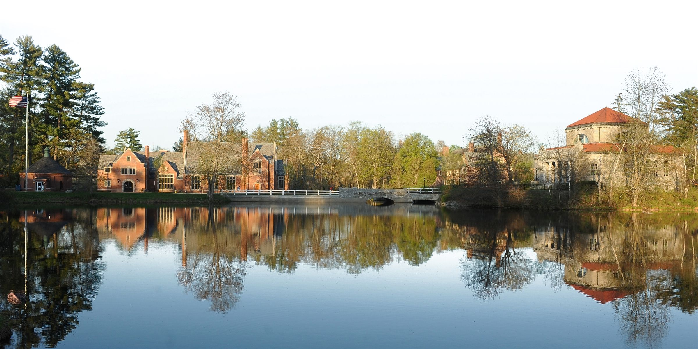 Campus and reflection in the still pond