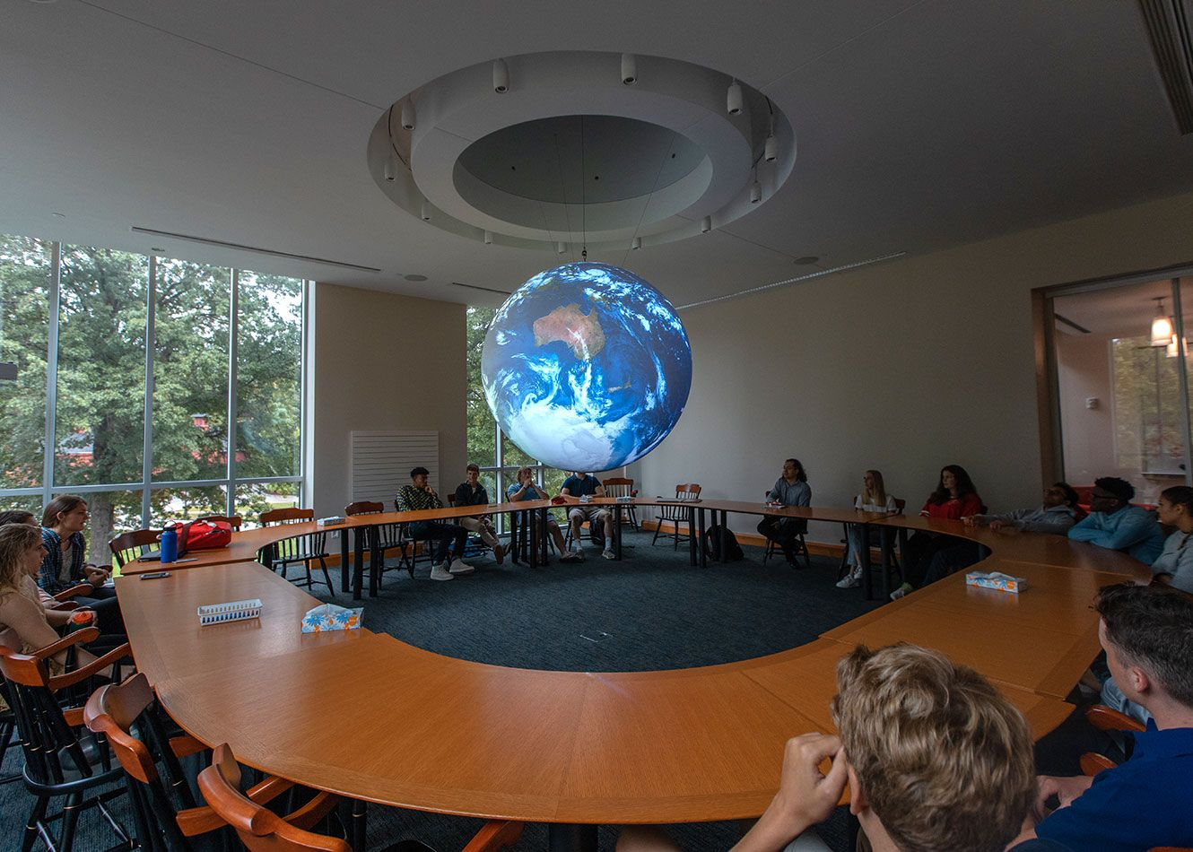 Our National Oceanographic and Atmospheric Administration (NOAA) Science on a Sphere classroom is one of 130 such systems in the world and the only one dedicated to high school students.