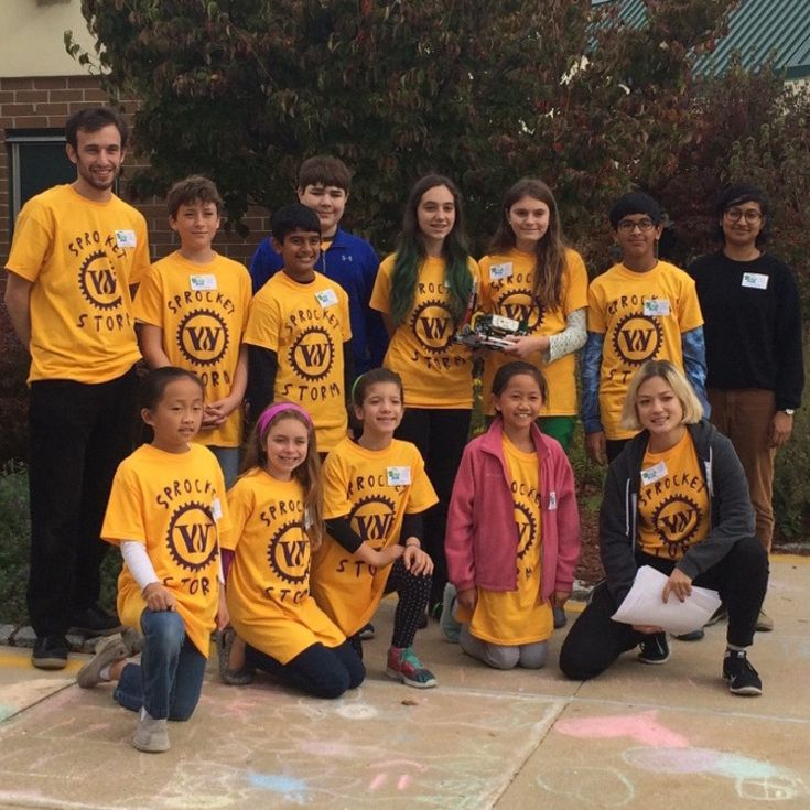 The 2016 FLL Middle School robotics team.