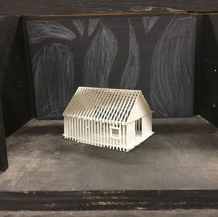 Model set for Shakespeare's The Tempest, designed and printed by Derek Schmaeling in the MS Theatre elective.