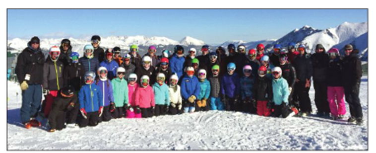 """Members of the MWV Ski Team at a recent training camp in Colorado. Coach Dave Gregory has been pleased with early-season results."" (COURTESY PHOTO)"