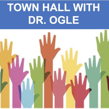 Join Dr. Ogle for school updates and a question and answer session at 5:00 p.m. A Zoom link will be emailed prior to the event.