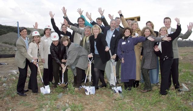 Dr. Eileen Mullady and Board members at the campus groundbreaking, February 27, 2007
