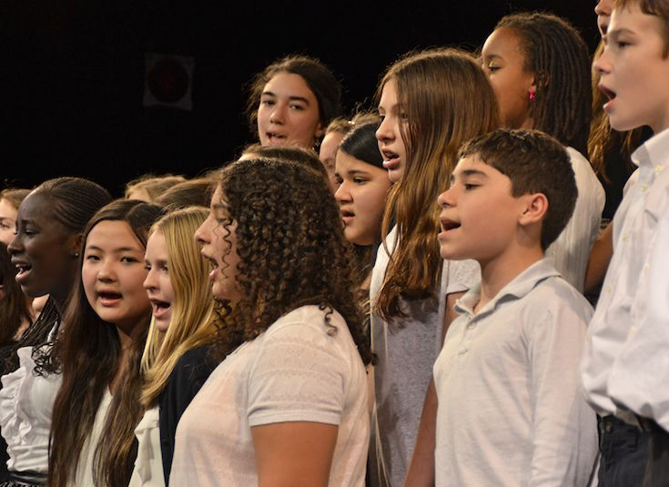Middle School Chorus harmonies: teamwork brings great results