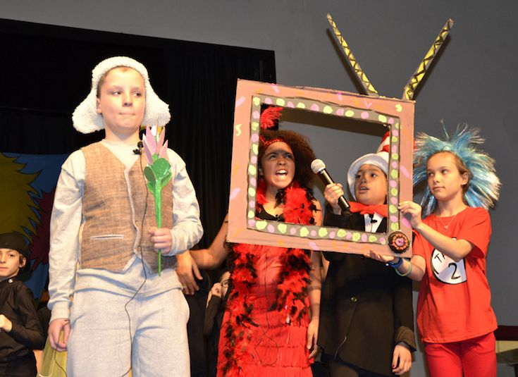 4th and 5th graders bring familiar book characters to life in Seusical the Musical
