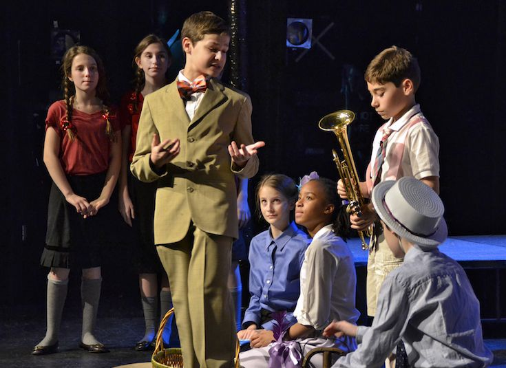 Middle School students handle lighting, stage cues, choreography, and of course acting in The Music Man