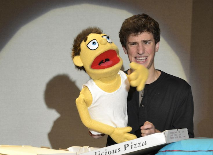 In addition to acting, High School students master the art of puppetry for their roles in Avenue Q