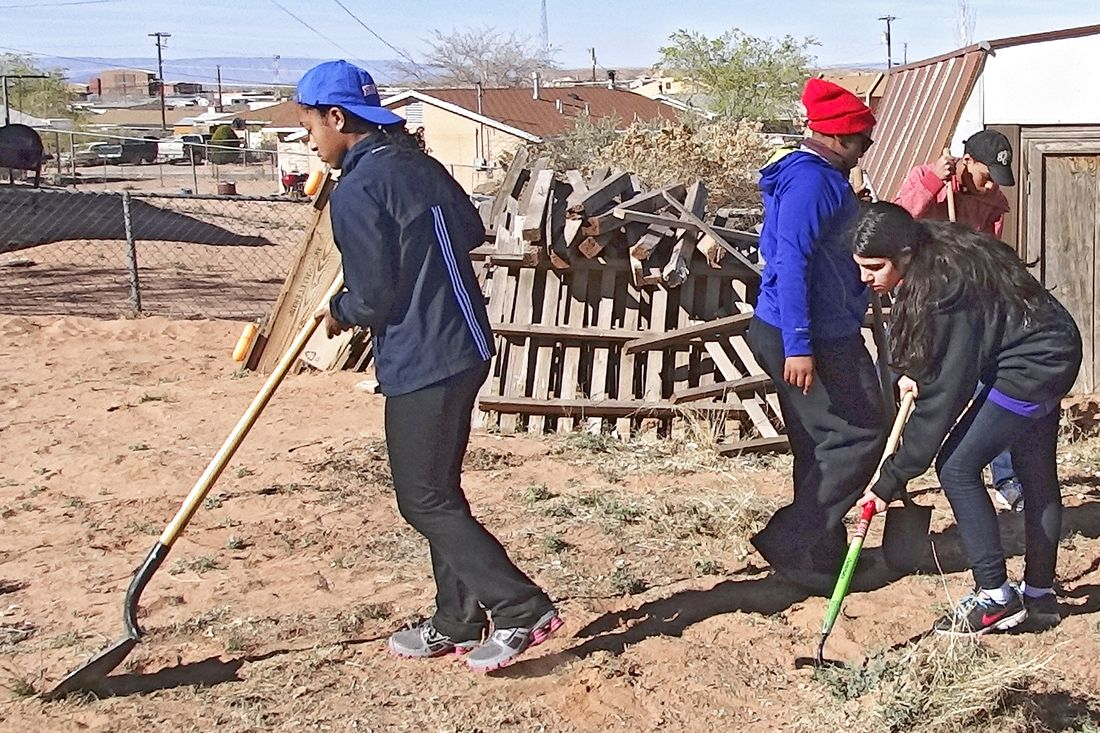 Service work in Navajo Nation, Tuba City, AZ
