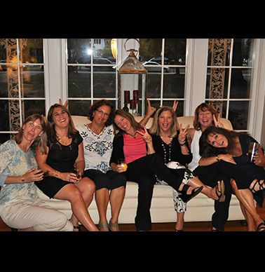 Pam Dawson O'Malley, Ann Levin Lane, Alice Mirguet Phillips, Christy Thomas, Mary Helen House Hilton, Brooke Garrett Tiller and Ann Wall Gaita.