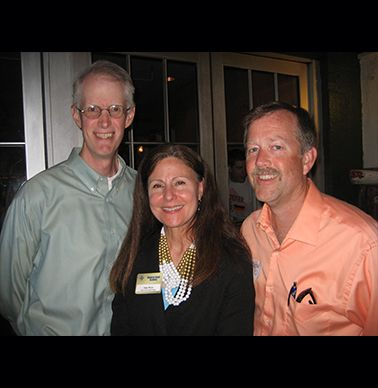 John Phillips '83, Lisa Mertz and John Stout '82.