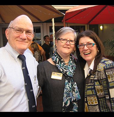 Ken Harkavy '63, Mary Blalock, Lolly Harkavy.