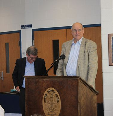 Mike Dickens `65 recalls playing basketball under Honoree Coach Hogg.