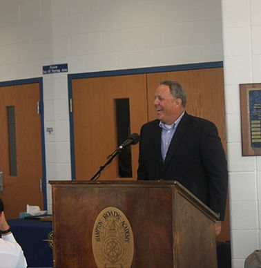 Dan Reid `90 spoke of his brother Jim's accomplishments, both on and off the field.