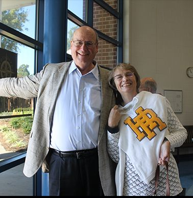 Mike Dickens `65 and a classmate were on hand to see the presentations.