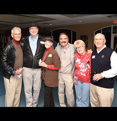 Members of the class of `65-Richard Joyce, Mike Dickens, Virgie Pile King, Bob Wanke, Susan Marshall, Bill Greene