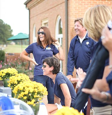 Tasha Rose `98, Shawen Bartol `85 and Max Gillespie welcome golfers.