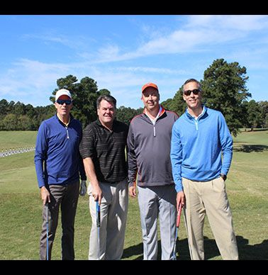 Mark Short '83, Clay Edwards '83, Stuart West '83, and Mark Sarrett '79