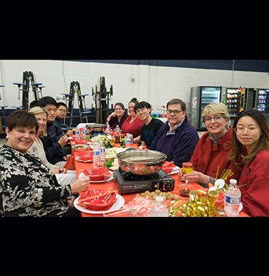 The school organized a Hot Pot dinner for celebrating the Lunar New Year!