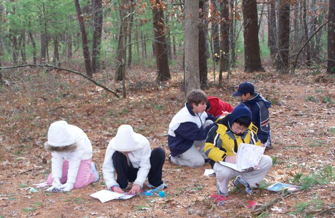 Our 46-acre campus provides the perfect environment for outdoor science exploration and observation.