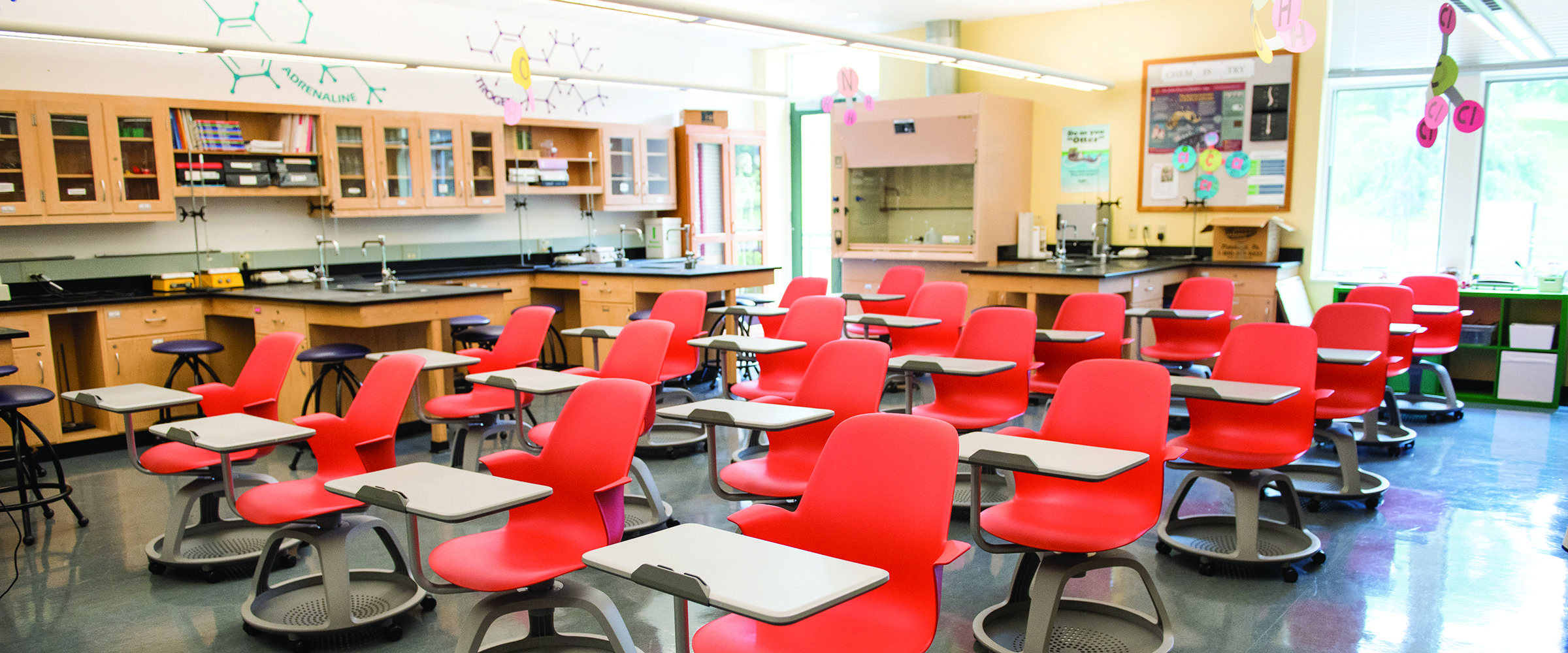 This is a photo of an Ellis science classroom.