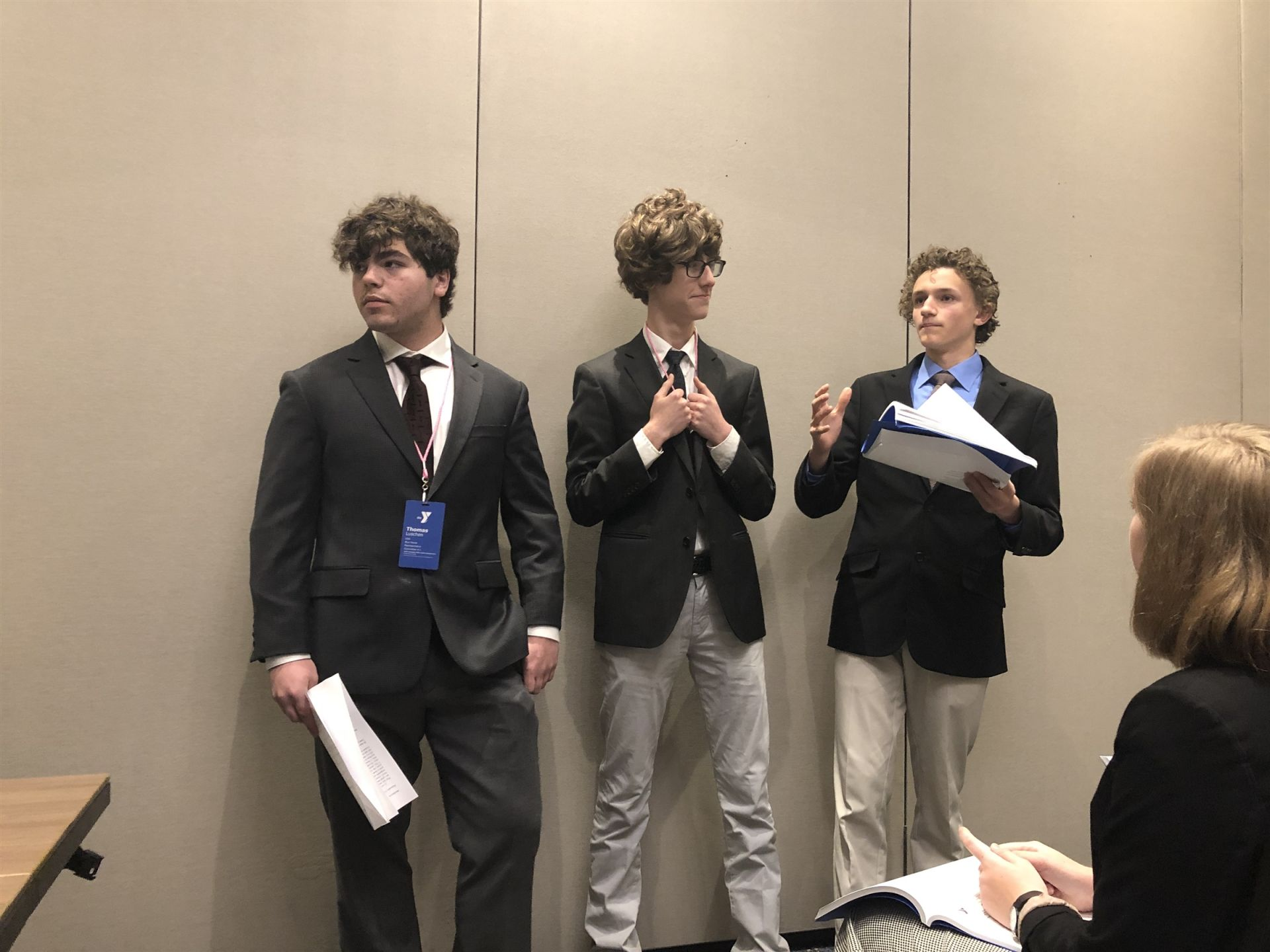 Thomas, Isaac, and Tate in committee