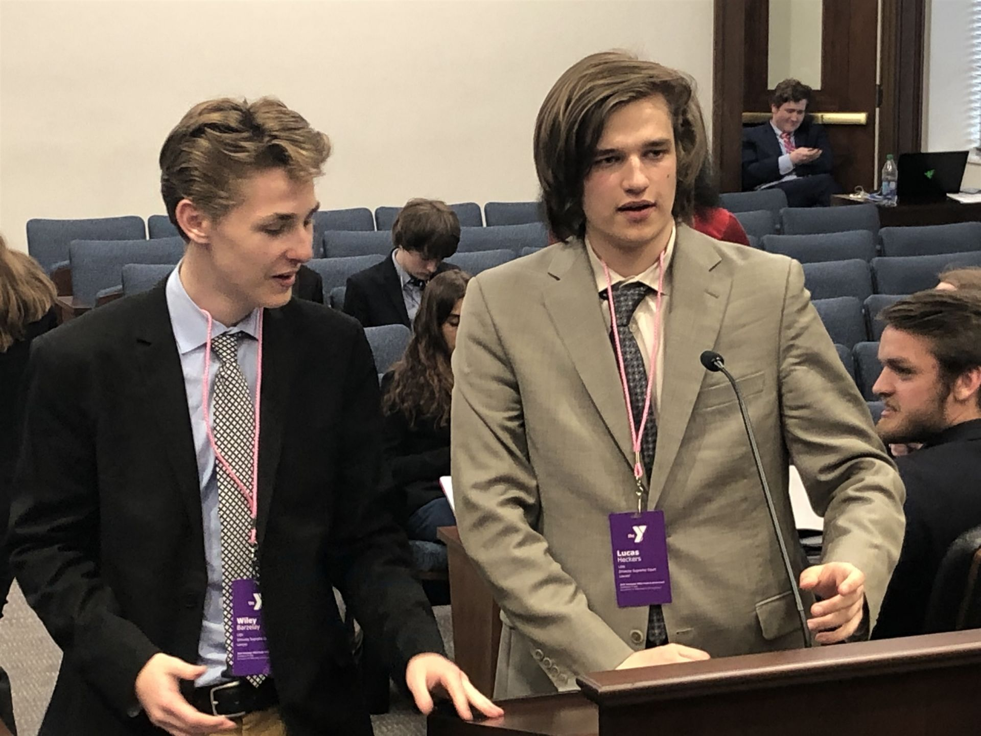 Wiley & Lucas prepare their oral argument
