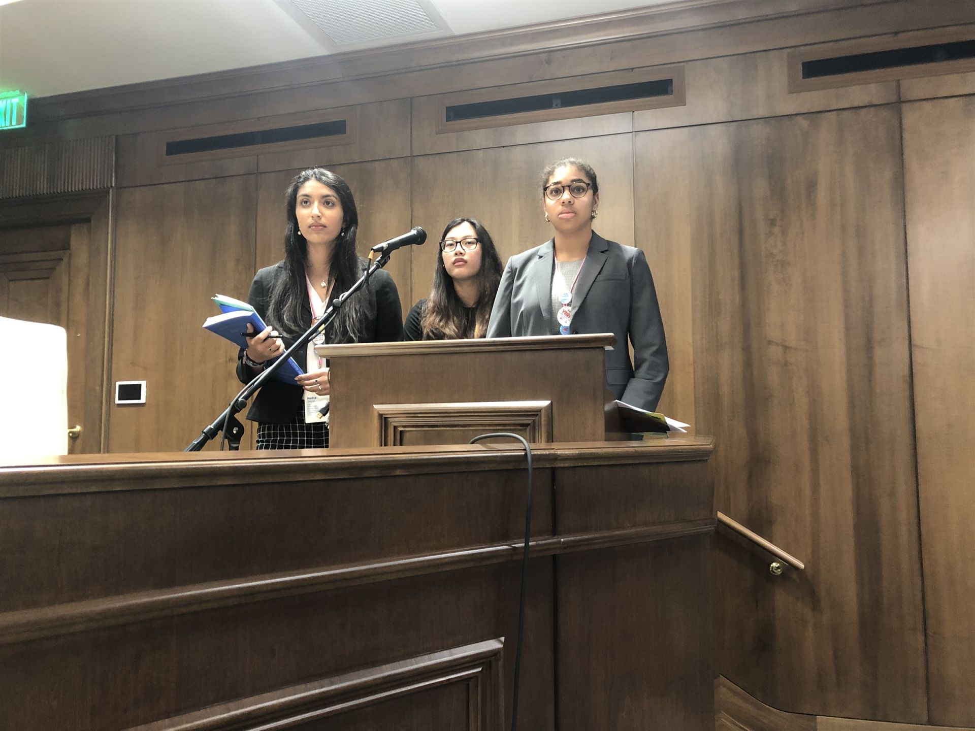 Neha, Erica, & Gabby present to the White Houses