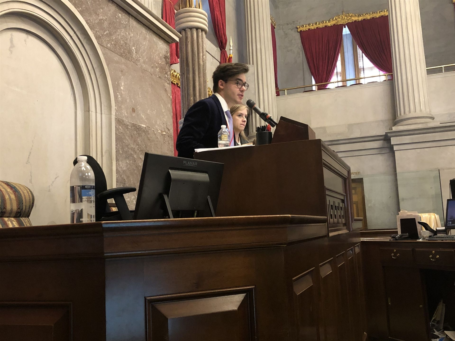 Sam presides as Speaker Pro-Tempore of the Red House