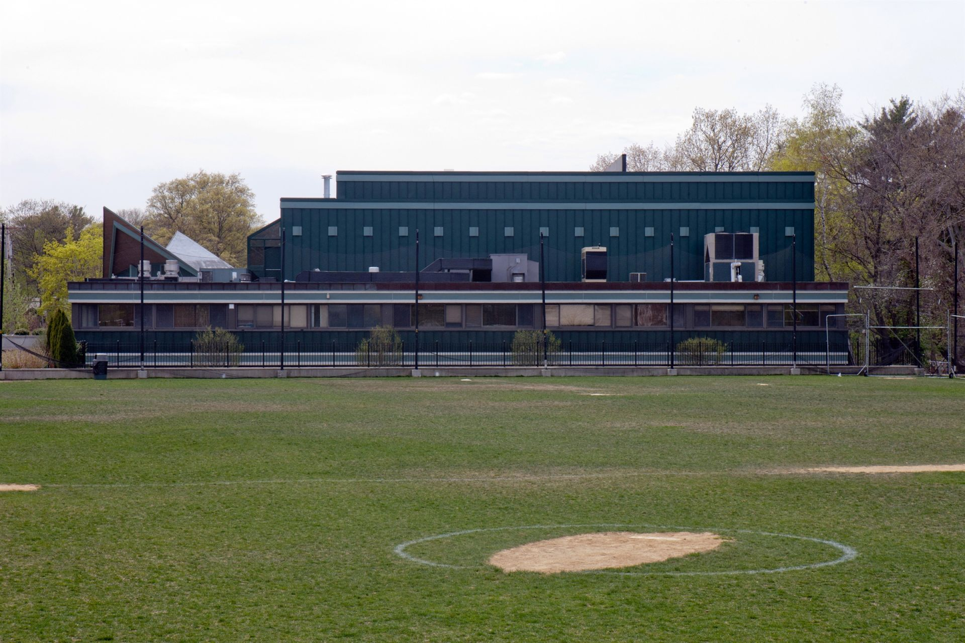 The Chase Building, including the Ruth Corkin Theatre, sits at the end of one of our two athletic fields.