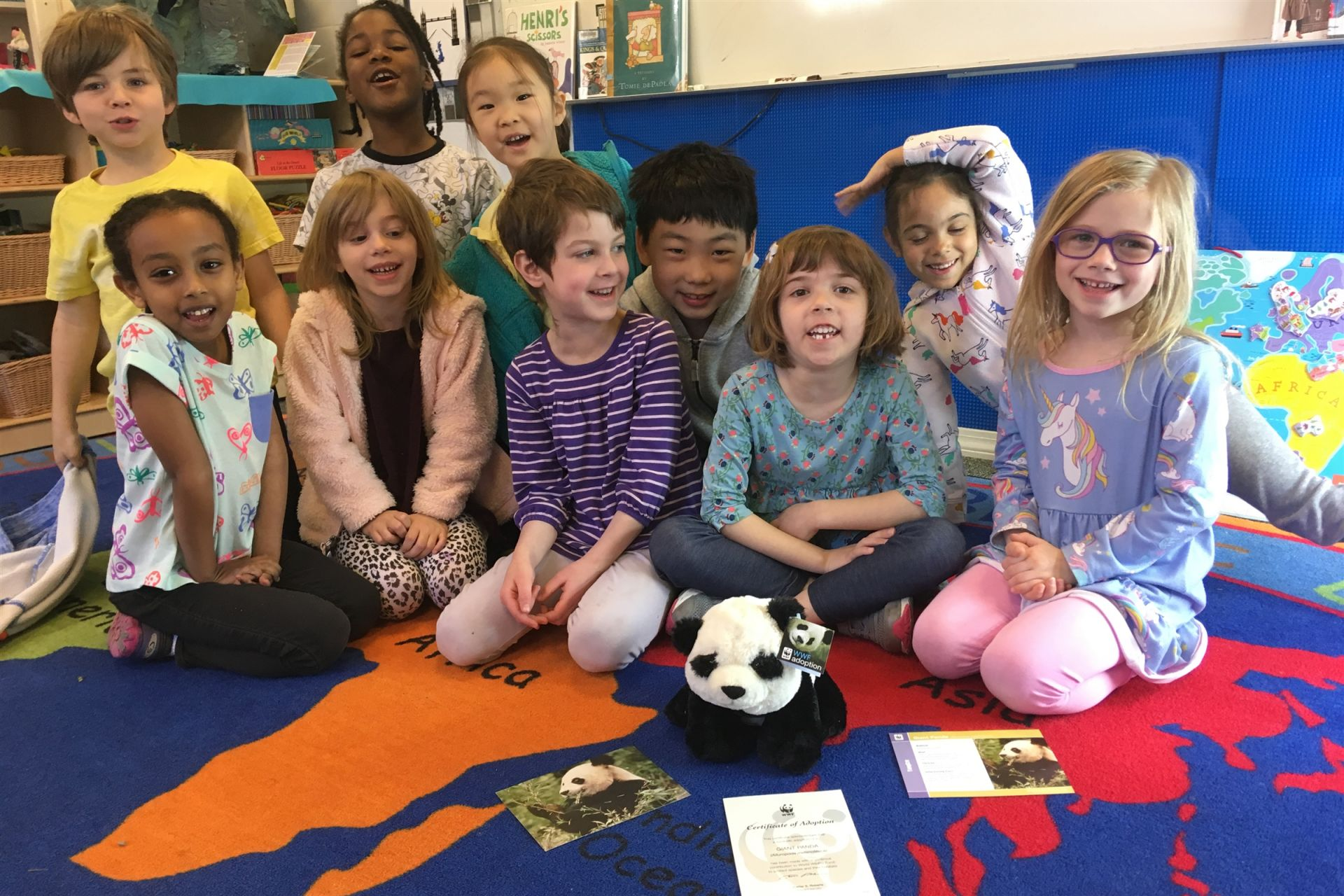 Kindergarten raising money for World Wildlife Fund