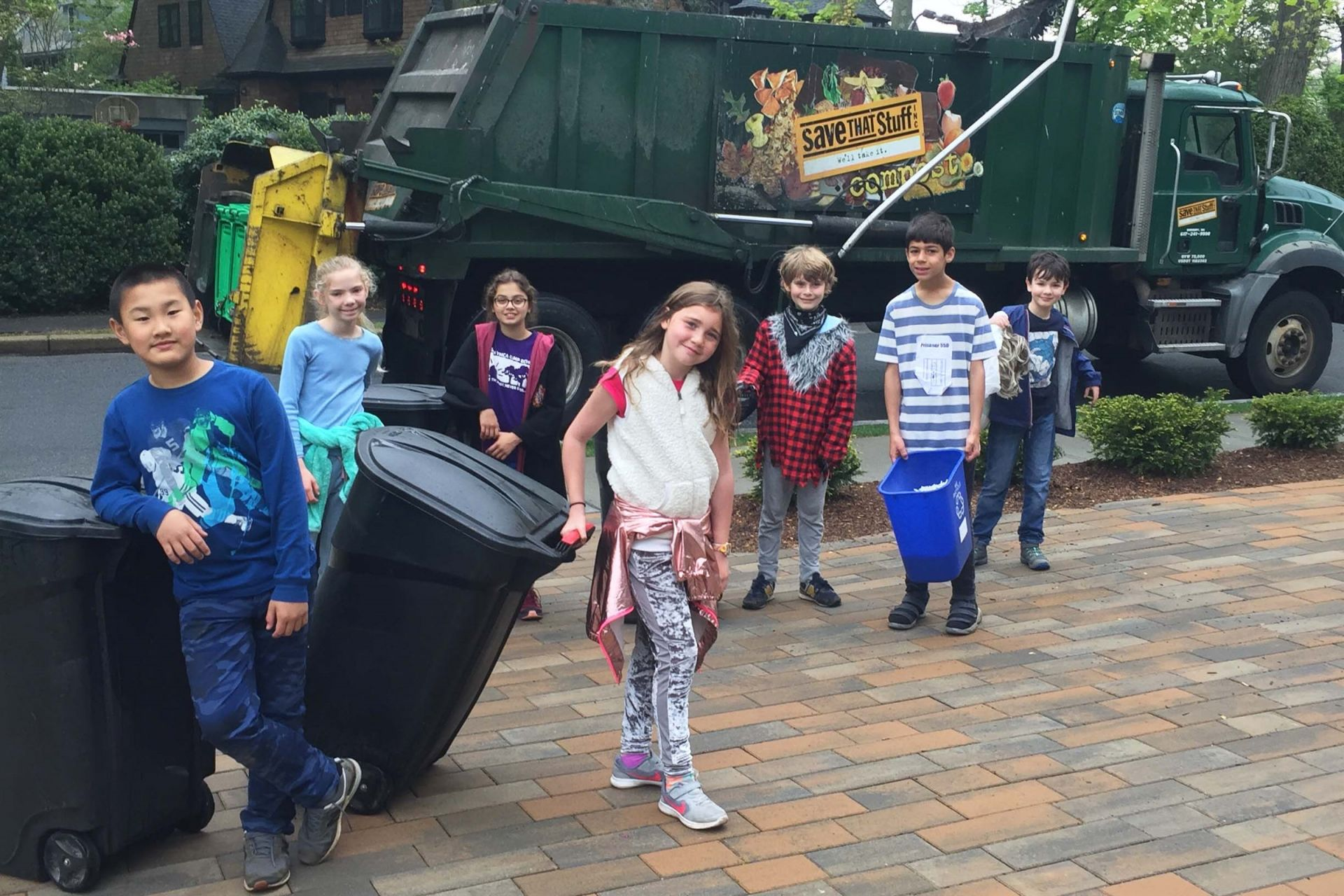 Grade 4 collecting recycling for the School