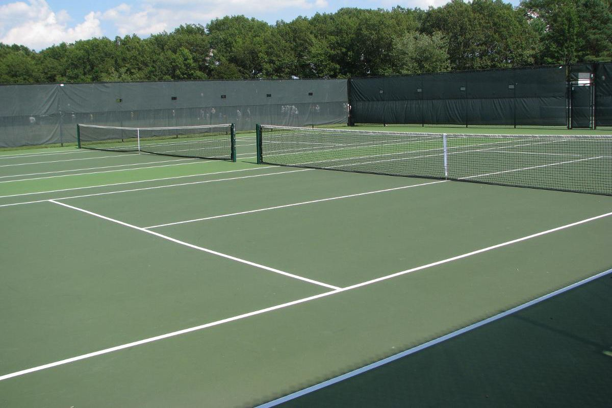 UMass Mount Ida Tennis Courts.