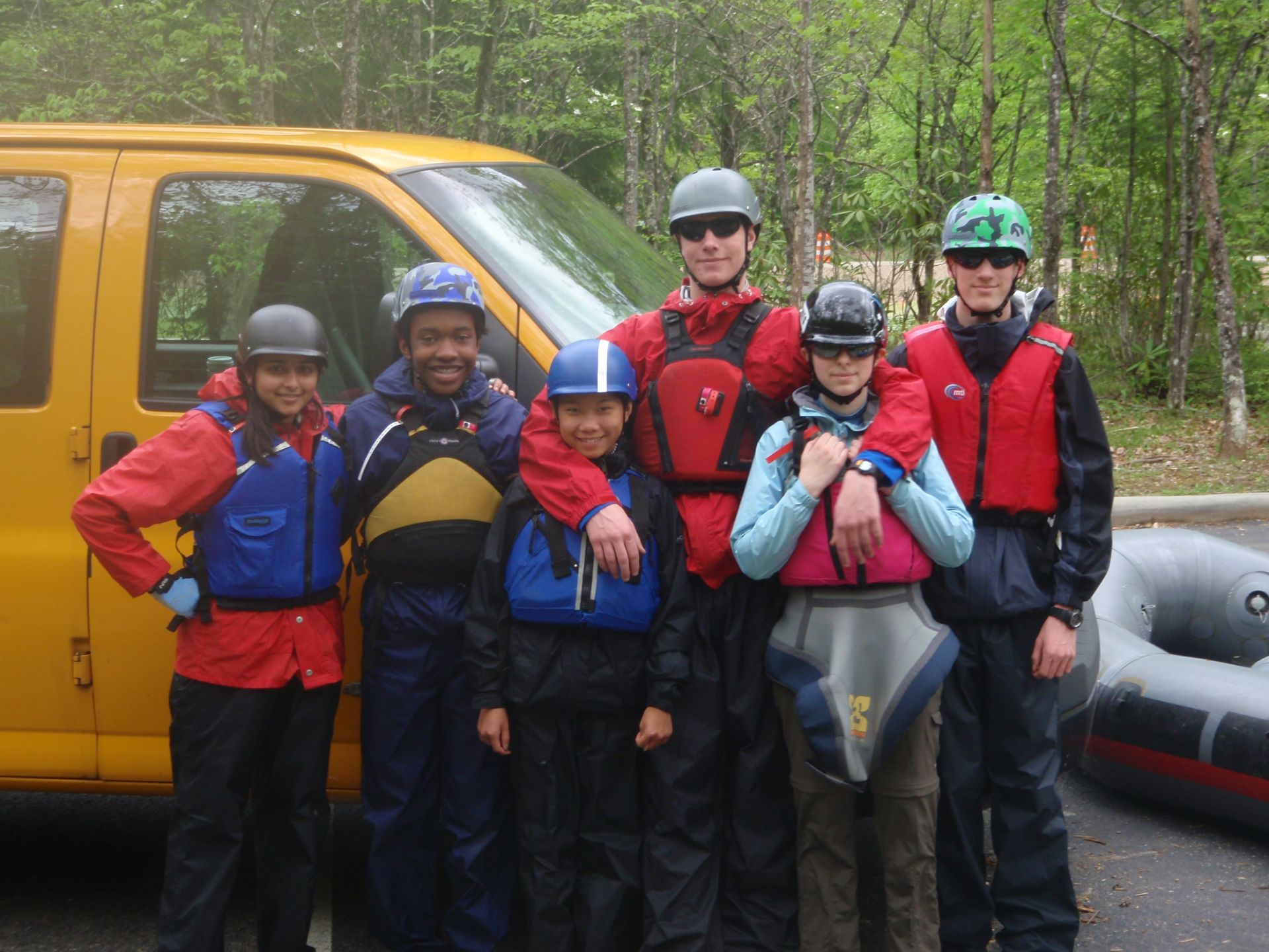 Preparing to paddle the Nantahala River in North Carolina