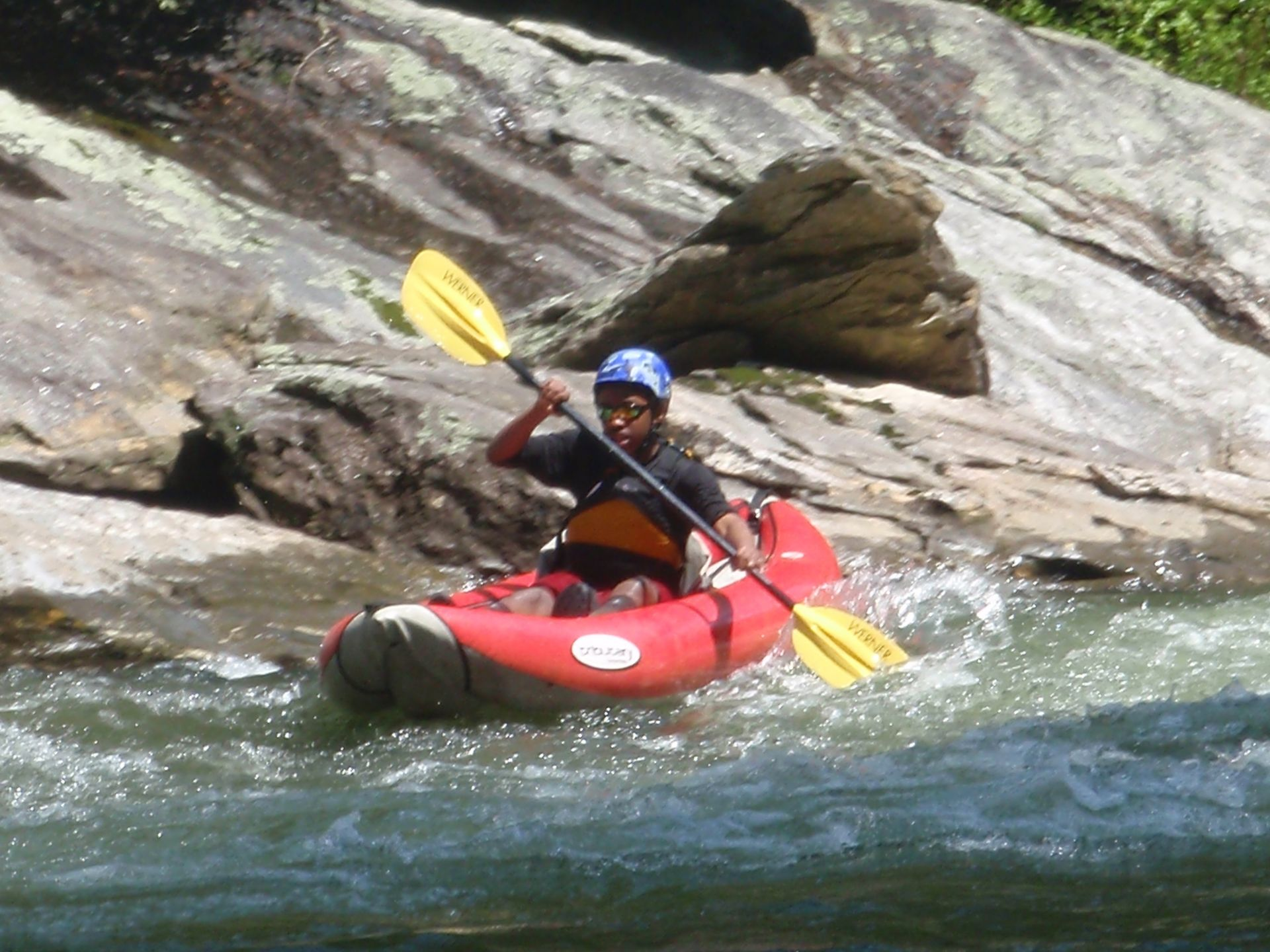 Paddling the Chattooga River in north Georgia.