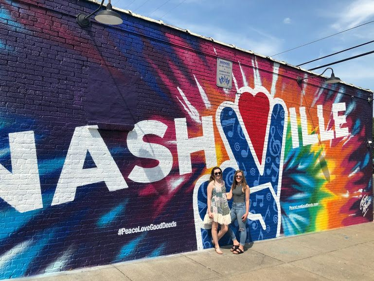 Erin Danaher '16 and Grace Marmaras '16 send greetings from Nashville!