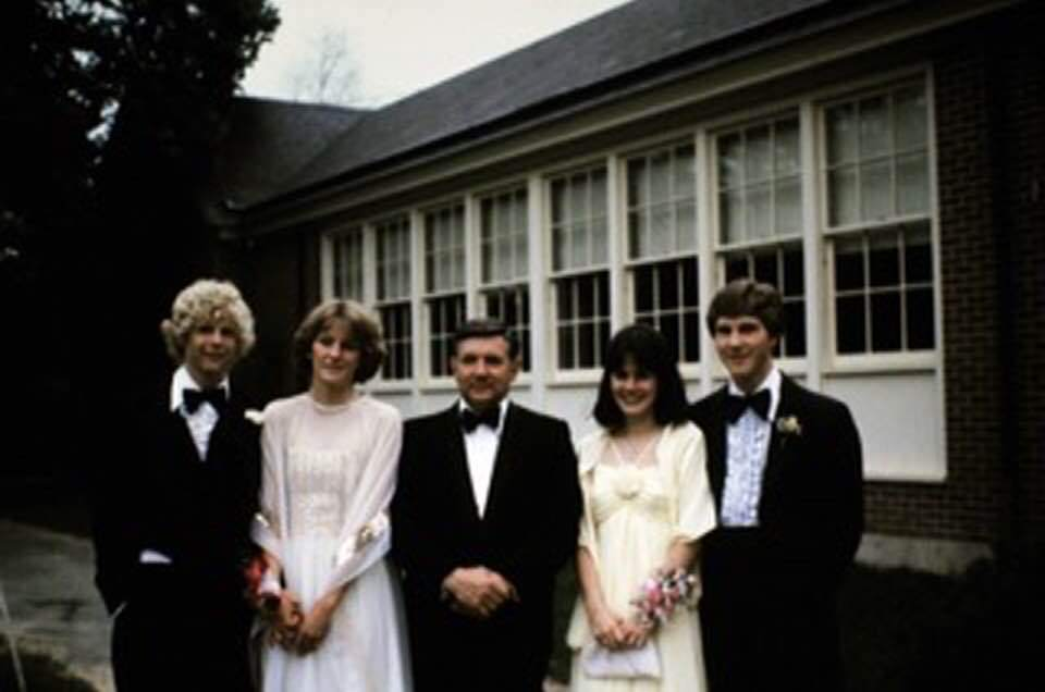 Flashback Friday greetings from Mrs. Devey! Senior prom Class of 1981 - Mark Devey, Sharon Ambler, David Devey, Nancy Rebar and Didier Matel.