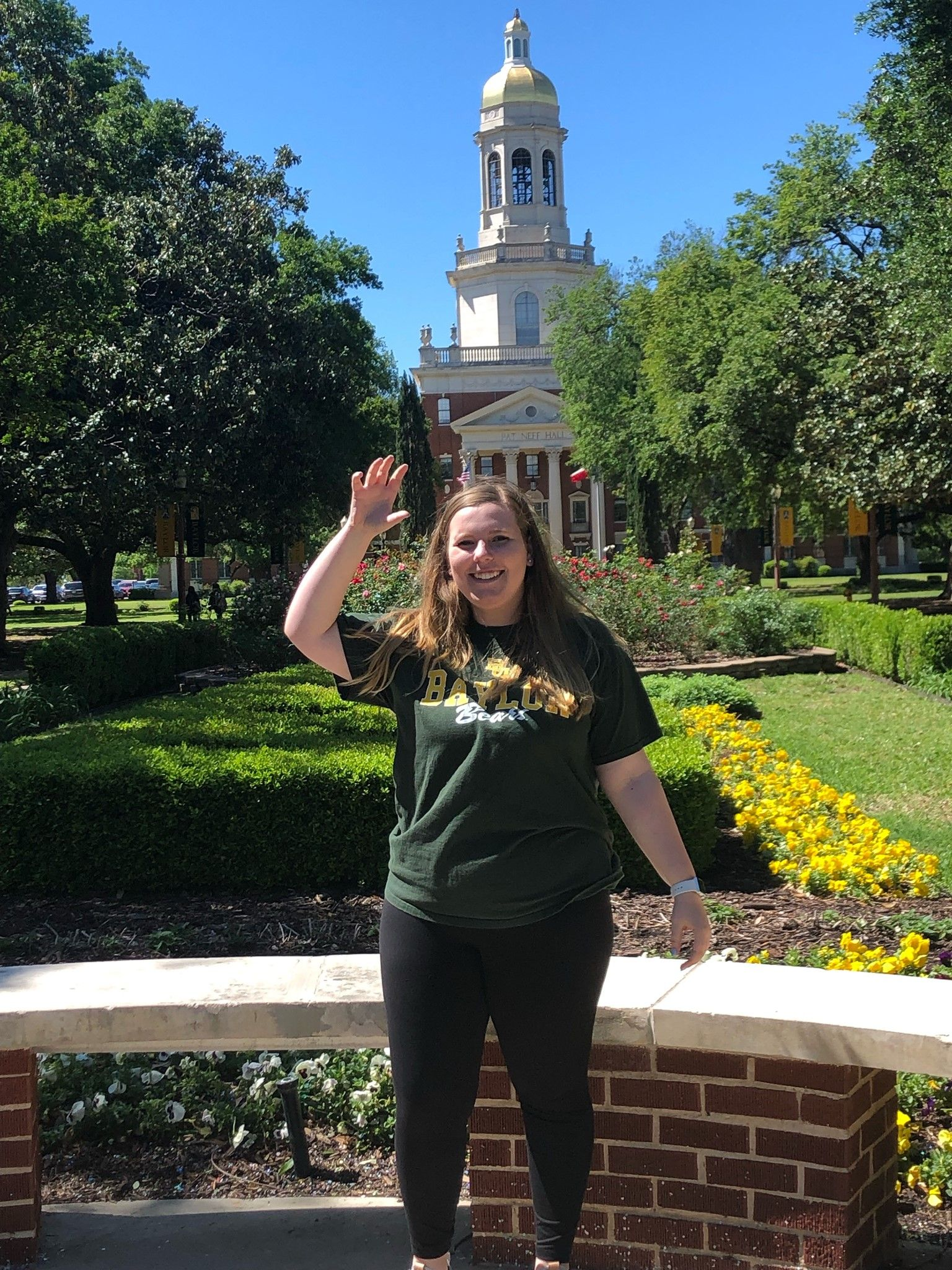 Greetings from Cassie Nataro '18 at Baylor University!