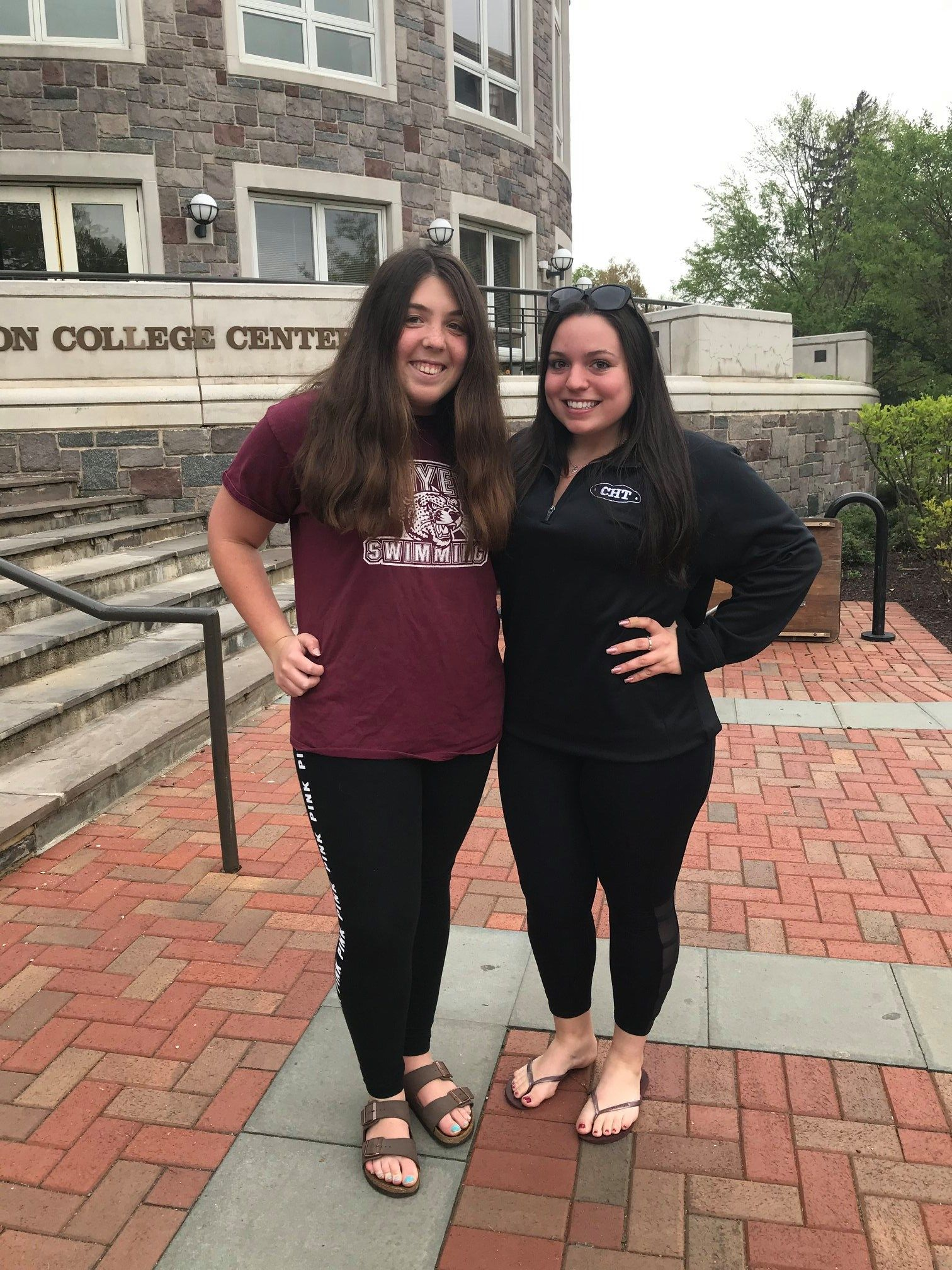Greetings from Lauren Gerber '18 & Adrianna DiMarco '16 at Lafayette College!