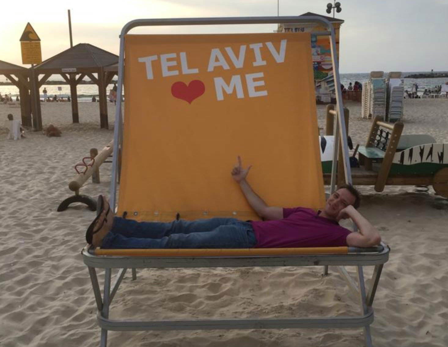 Greetings from Jeremy Vaida '03 in Israel!