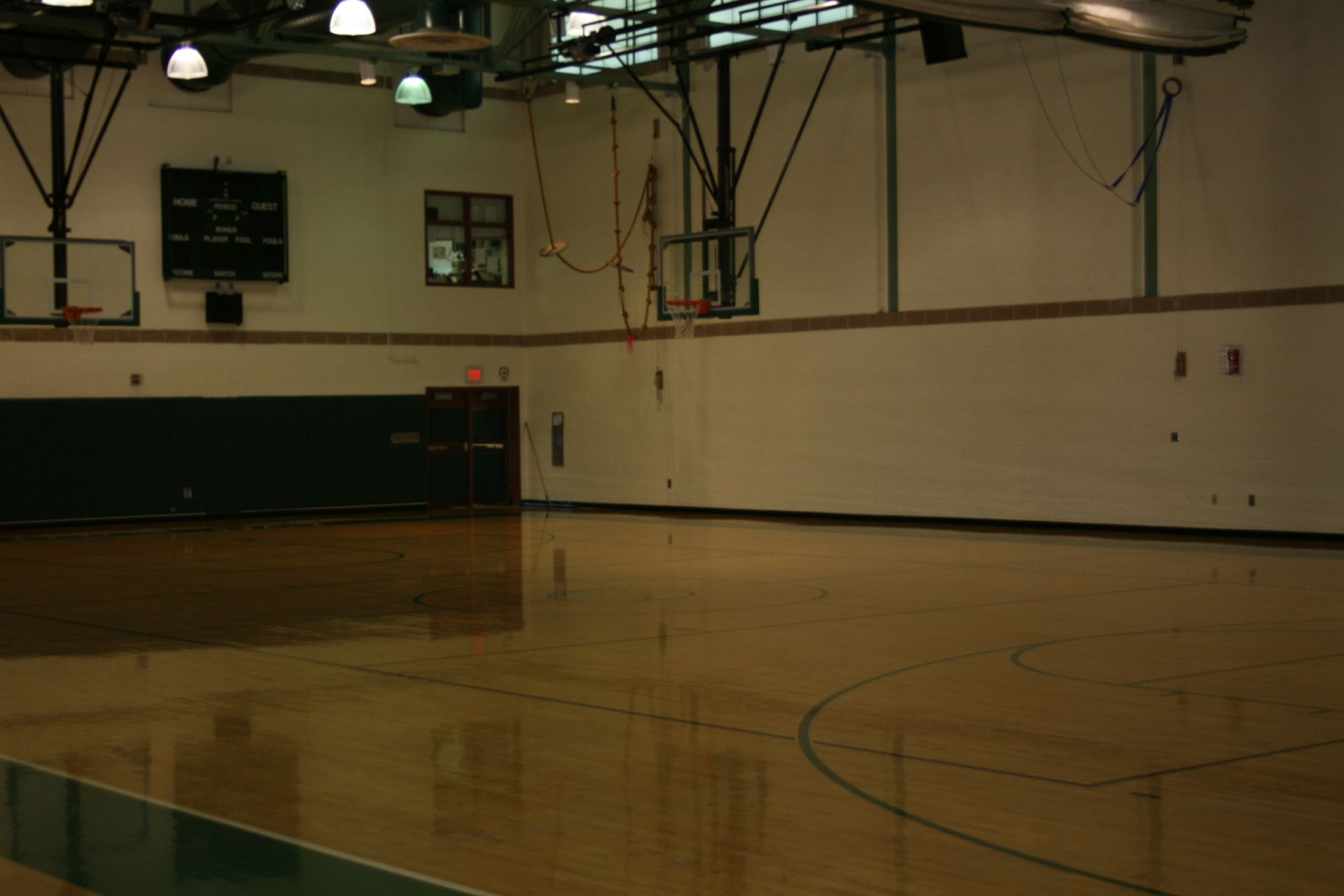High School gym.