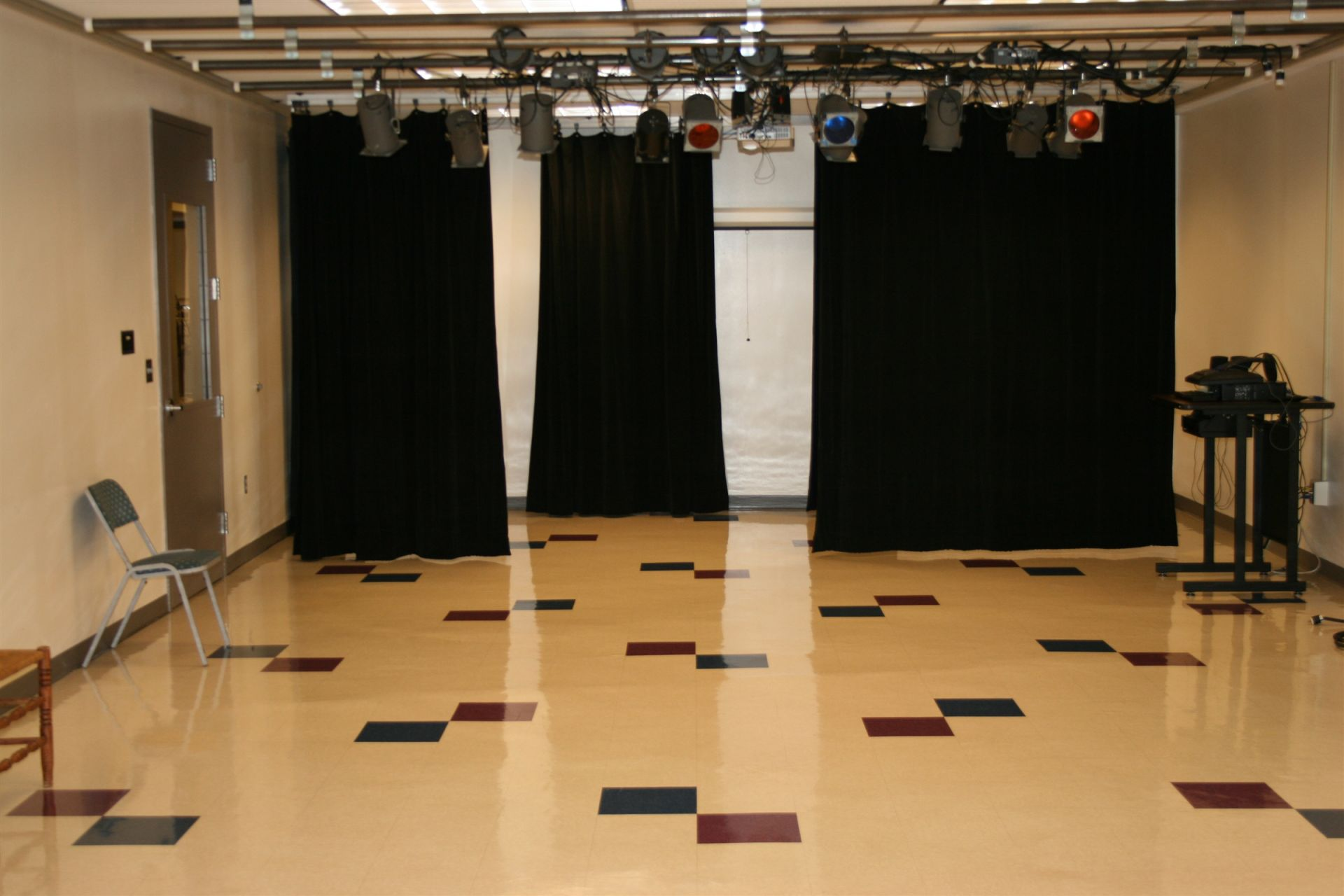 High School Drama Room.
